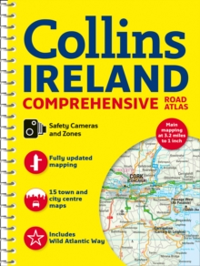 Comprehensive Road Atlas Ireland, Spiral bound Book