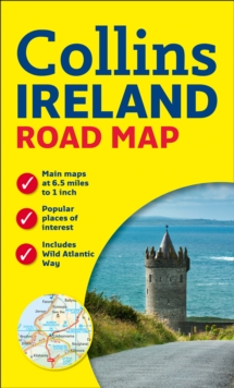 Ireland Road Map, Sheet map, folded Book