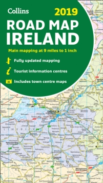 2019 Collins Map of Ireland, Sheet map, folded Book