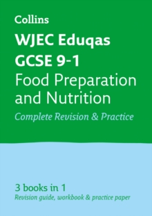 GCSE Food Preparation and Nutrition Grade 9-1 WJEC Eduqas Practice and Revision Guide with free online Q&A flashcard download, Paperback / softback Book