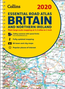 2020 Collins Essential Road Atlas Britain and Northern Ireland, Spiral bound Book