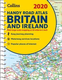 2020 Collins Handy Road Atlas Britain and Ireland, Spiral bound Book