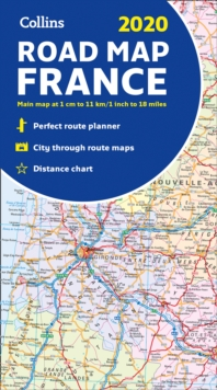 2020 Collins Map of France, Sheet map, folded Book