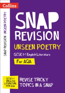Unseen Poetry: New GCSE 9-1 English Literature AQA, Paperback / softback Book