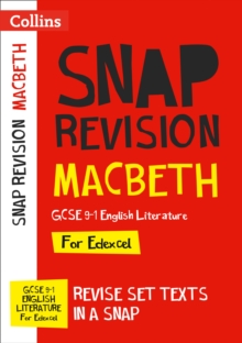 Macbeth: Edexcel GCSE 9-1 English Literature Text Guide : Ideal for Home Learning, 2021 Assessments and 2022 Exams, Paperback / softback Book