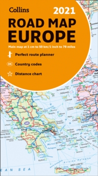Map of Europe 2021 : Folded Road Map, Sheet map, folded Book