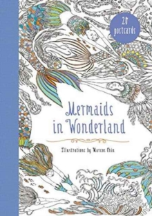 Mermaids in Wonderland 20 Postcards : An Interactive Coloring Adventure for All Ages, Miscellaneous print Book