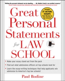 Great Personal Statements for Law School, Paperback / softback Book