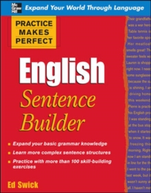 Practice Makes Perfect English Sentence Builder, Paperback Book