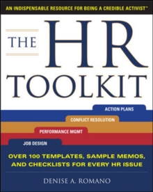 The HR Toolkit: An Indispensable Resource for Being a Credible Activist, Paperback Book