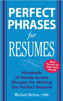 Perfect Phrases for Resumes, EPUB eBook