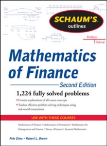 Schaum's Outline of  Mathematics of Finance, Second Edition, Paperback Book