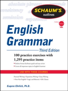 Schaum's Outline of English Grammar, Paperback Book