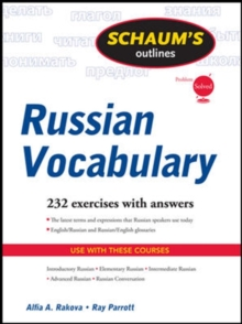 Schaum's Outline of Russian Vocabulary, Paperback / softback Book