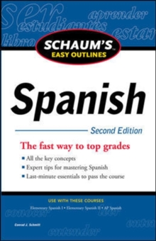 Schaum's Easy Outline of Spanish, Second Edition, Paperback Book