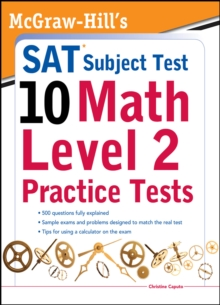 McGraw-Hills SAT Subject Test 10: Math Level 2 Practice Tests, EPUB eBook