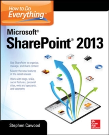 How to Do Everything Microsoft SharePoint 2013, Paperback Book