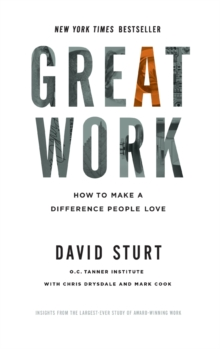 Great Work: How to Make a Difference People Love, Hardback Book