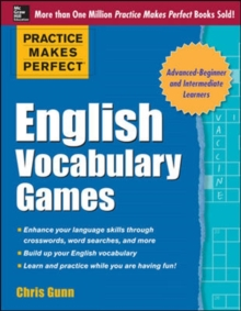 Practice Makes Perfect English Vocabulary Games, Paperback Book