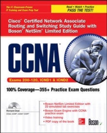 CCNA Cisco Certified Network Associate Routing and Switching Study Guide (Exams 200-120, ICND1, & ICND2), with Boson NetSim Limited Edition, Book Book
