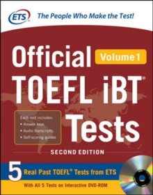 Official TOEFL iBT (R) Tests Volume 1, Book Book