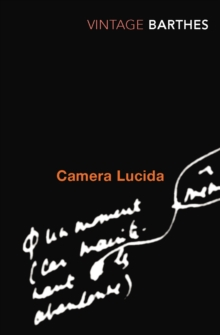 Camera Lucida : Reflections on Photography, Paperback / softback Book