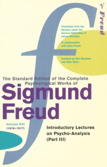 Complete Psychological Works Of Sigmund Freud, The Vol 16, Paperback / softback Book