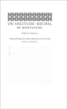 On Solitude, Paperback Book