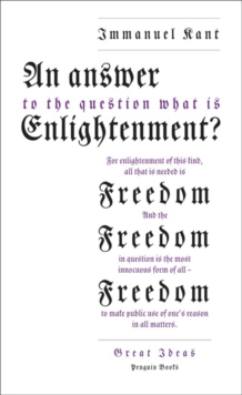 An Answer to the Question: 'What is Enlightenment?', Paperback / softback Book