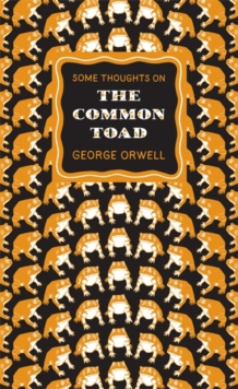 Some Thoughts on the Common Toad, Paperback / softback Book