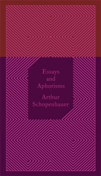Essays And Aphorisms, Hardback Book