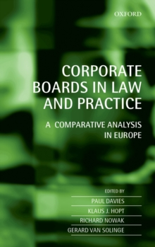Corporate Boards in Law and Practice : A Comparative Analysis in Europe, EPUB eBook