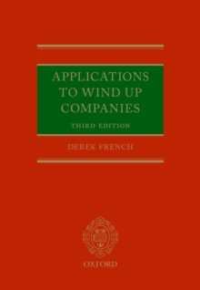 Applications to Wind Up Companies, PDF eBook