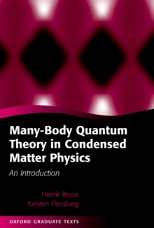 Many-Body Quantum Theory in Condensed Matter Physics : An Introduction, PDF eBook