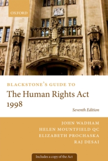 Blackstone's Guide to the Human Rights Act 1998, PDF eBook
