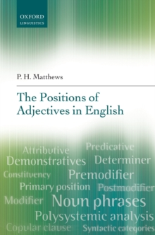 The Positions of Adjectives in English, PDF eBook