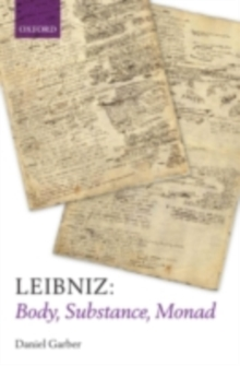Leibniz: Body, Substance, Monad, PDF eBook