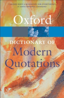 Oxford Dictionary of Modern Quotations, EPUB eBook