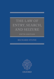 The Law of Entry, Search, and Seizure, EPUB eBook