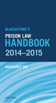 Blackstone's Prison Law Handbook 2014-2015, EPUB eBook