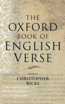 The Oxford Book of English Verse, Hardback Book