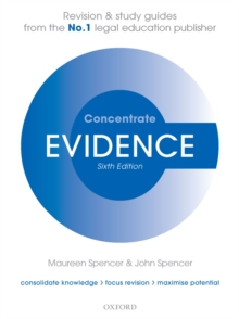 Evidence Concentrate : Law Revision and Study Guide, EPUB eBook