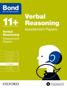 Bond 11+: Verbal Reasoning: Assessment Papers : 7-8 years, Paperback Book