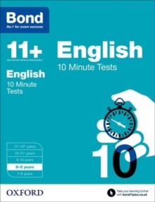 Bond 11+: English: 10 Minute Tests : 8-9  years, Paperback Book