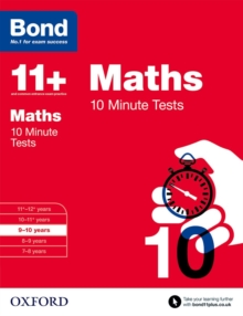 Bond 11+: Maths: 10 Minute Tests : 9-10 Years, Paperback Book