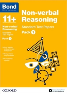 Bond 11+: Non-verbal Reasoning: Standard Test Papers : Pack 1, Paperback Book