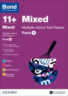 Bond 11+: Mixed: Multiple-choice Test Papers : Pack 1, Paperback / softback Book