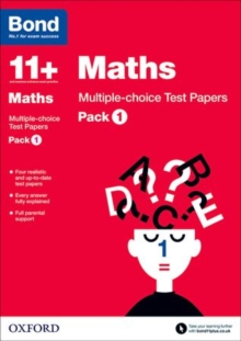 Bond 11+: Maths: Multiple-choice Test Papers : Pack 1, Paperback / softback Book