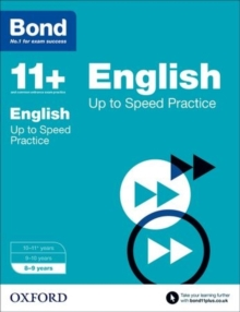 Bond 11+: English: Up to Speed Papers : 8-9 years, Paperback / softback Book