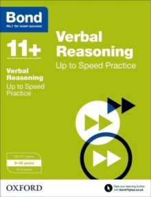 Bond 11+: Verbal Reasoning: Up to Speed Papers : 9-10 Years, Paperback Book